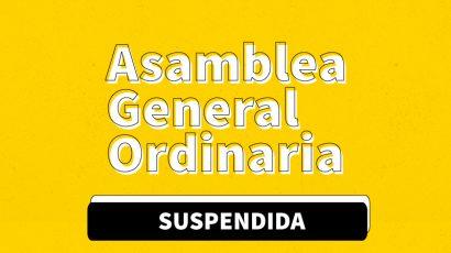 Asamblea General Ordinaria Suspendida