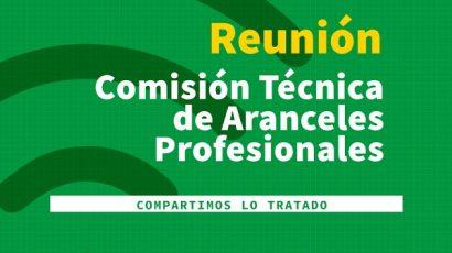 Informe de reunión de la Comisión de Aranceles Profesionales