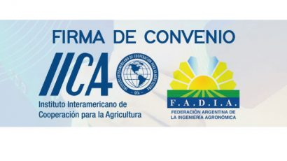 Presentes en la firma del Convenio entre FADIA e IICA