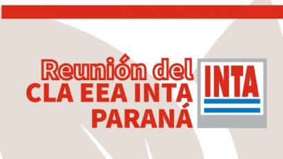 Participamos en una nueva reunión del CLA EEA Paraná – INTA
