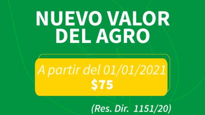 Nuevo valor de Agro