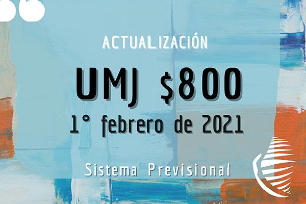 Caja PREVER: Actualización del valor de la UMJ