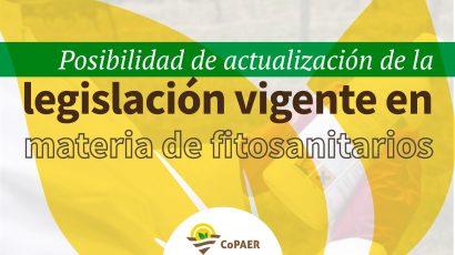 Posibilidad de actualización de la legislación vigente en materia de fitosanitarios