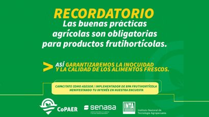 Buenas Prácticas Agrícolas: capacitate como implementador frutihortícola
