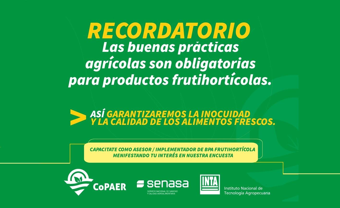 Buenas Prácticas Agrícolas: capacítate como implementador frutihortícola
