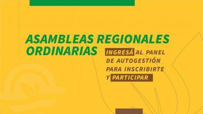 Participá de las Asambleas Regionales Ordinarias