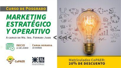 20% de descuento en el Curso de Posgrado«Marketing Estratégico y Operativo»