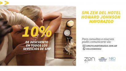 Nuevo Beneficio: Spa Zen del Hotel Howard Johnson Mayorazgo