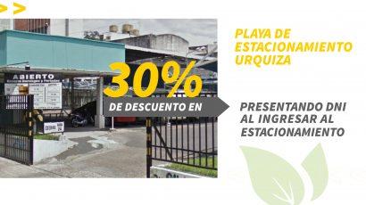 30% de descuento en Estacionamiento Urquiza