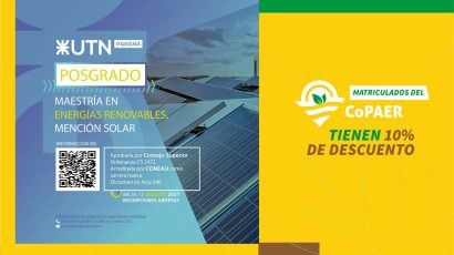 UTN Paraná: Maestría en Energías Renovables
