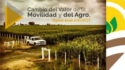 Cambio del Valor de la Movilidad y el Agro