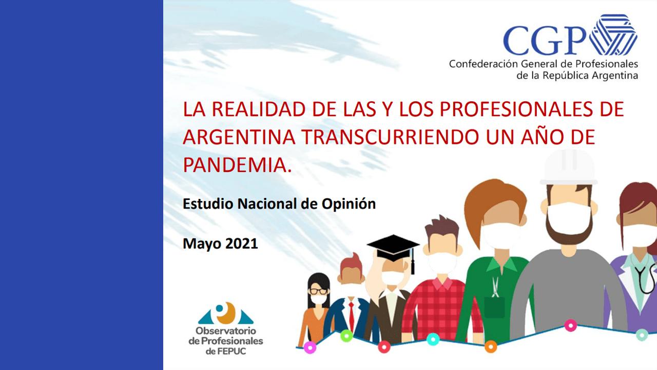 Encuesta: «La realidad de las y los profesionales argentinos…».